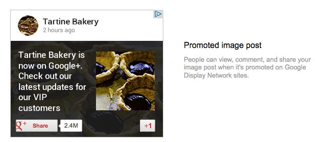 Google plus ad example